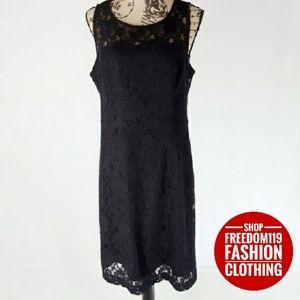 Banana Republic   Sleeveless Lined Lace Dress (14)